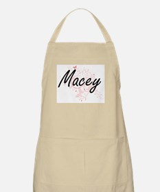 Macey Artistic Name Design with Butterflies Apron