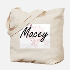 Macey Artistic Name Design with Butterfli Tote Bag