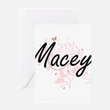 Macey Artistic Name Design with But Greeting Cards