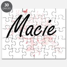Macie Artistic Name Design with Butterflies Puzzle