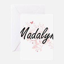 Madalyn Artistic Name Design with B Greeting Cards