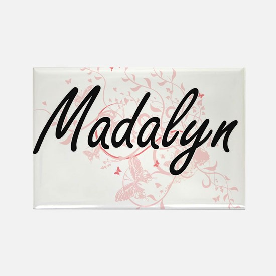 Madalyn Artistic Name Design with Butterfl Magnets