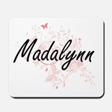 Madalynn Artistic Name Design with Butte Mousepad