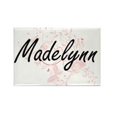 Madelynn Artistic Name Design with Butterf Magnets