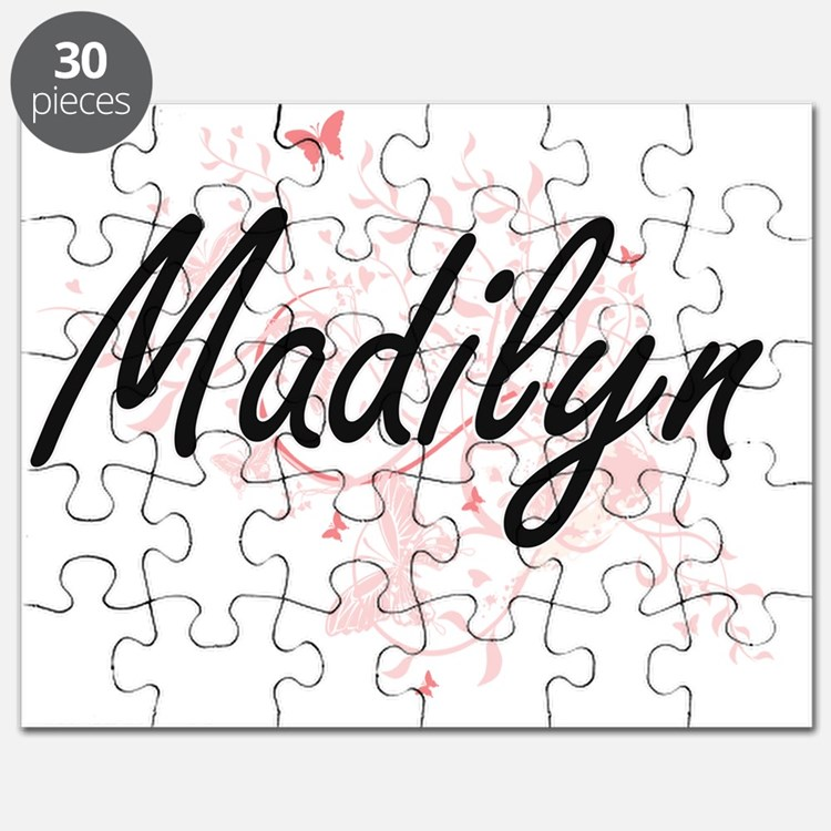 Madilyn Artistic Name Design with Butterfli Puzzle