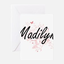 Madilyn Artistic Name Design with B Greeting Cards