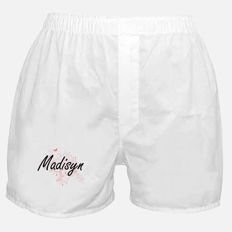Madisyn Artistic Name Design with But Boxer Shorts