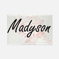 Madyson Artistic Name Design with Butterfl Magnets