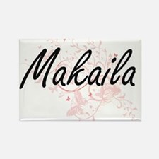 Makaila Artistic Name Design with Butterfl Magnets