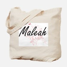 Maleah Artistic Name Design with Butterfl Tote Bag