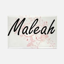 Maleah Artistic Name Design with Butterfli Magnets