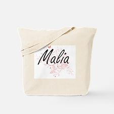 Malia Artistic Name Design with Butterfli Tote Bag