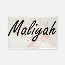 Maliyah Artistic Name Design with Butterfl Magnets