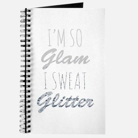 I'm So Glam I Sweat Glitter Journal