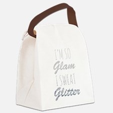 I'm So Glam I Sweat Glitter Canvas Lunch Bag