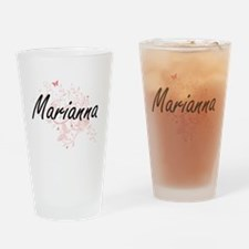 Marianna Artistic Name Design with Drinking Glass