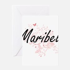 Maribel Artistic Name Design with B Greeting Cards