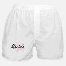 Mariela Artistic Name Design with But Boxer Shorts