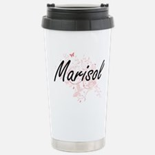 Marisol Artistic Name D Stainless Steel Travel Mug
