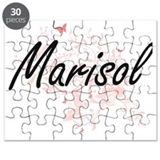 Marisol Artistic Name Design with Butterfli Puzzle
