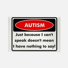 Autism Warning Rectangle Magnet