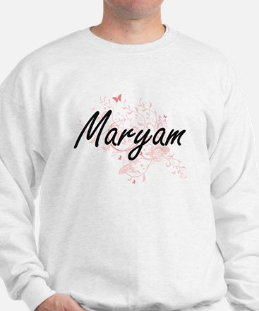 Maryam Artistic Name Design with Butter Sweatshirt