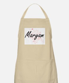 Maryam Artistic Name Design with Butterflies Apron