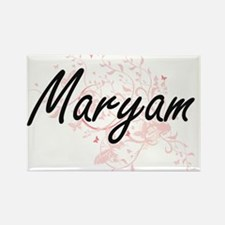 Maryam Artistic Name Design with Butterfli Magnets