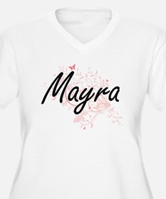 Mayra Artistic Name Design with Plus Size T-Shirt