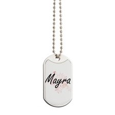 Mayra Artistic Name Design with Butterfli Dog Tags