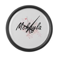Mckayla Artistic Name Design with Large Wall Clock