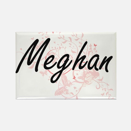 Meghan Artistic Name Design with Butterfli Magnets