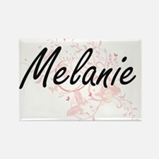 Melanie Artistic Name Design with Butterfl Magnets