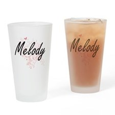 Melody Artistic Name Design with Bu Drinking Glass
