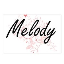 Melody Artistic Name Desi Postcards (Package of 8)