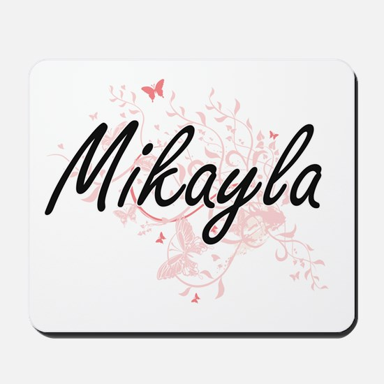 Mikayla Artistic Name Design with Butter Mousepad