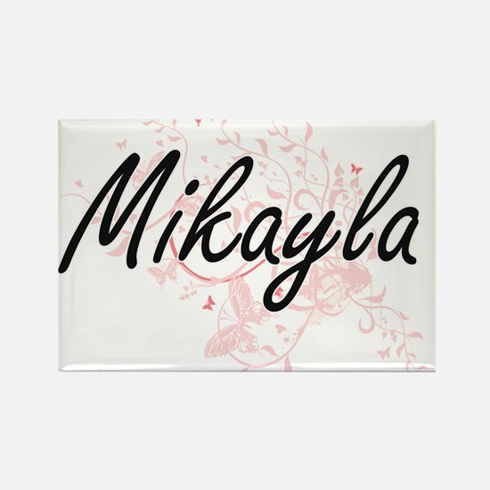 Mikayla Artistic Name Design with Butterfl Magnets
