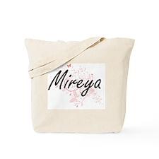 Mireya Artistic Name Design with Butterfl Tote Bag