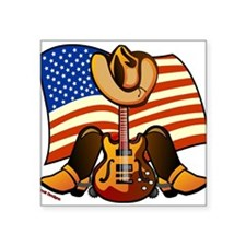 "Funny Country musician Square Sticker 3"" x 3"""
