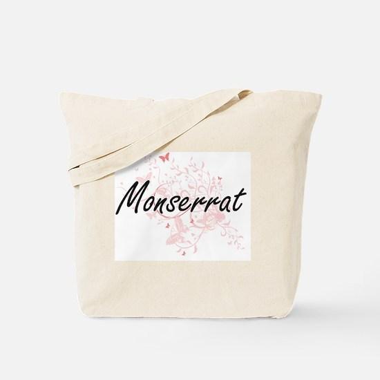 Monserrat Artistic Name Design with Butte Tote Bag