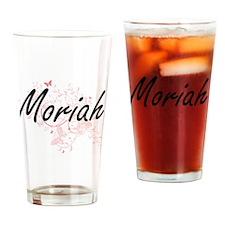 Moriah Artistic Name Design with Bu Drinking Glass