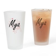 Mya Artistic Name Design with Butte Drinking Glass