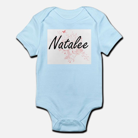 Natalee Artistic Name Design with Butter Body Suit