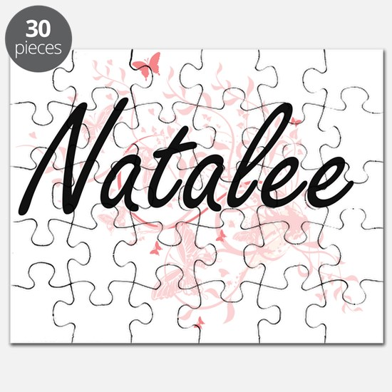 Natalee Artistic Name Design with Butterfli Puzzle