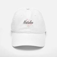 Natalee Artistic Name Design with Butterflies Baseball Baseball Cap