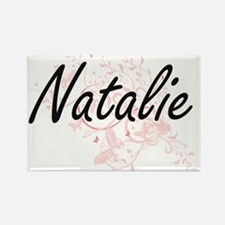 Natalie Artistic Name Design with Butterfl Magnets