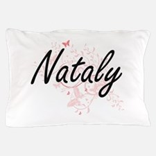 Nataly Artistic Name Design with Butte Pillow Case