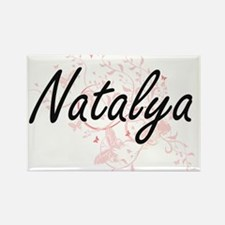 Natalya Artistic Name Design with Butterfl Magnets