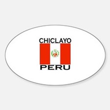 Chiclayo, Peru Oval Decal