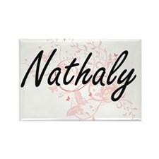 Nathaly Artistic Name Design with Butterfl Magnets